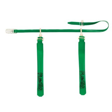 Olympia Sports FB508P 52 in. Sonic Flag-A-Tag Set of 12 - Kelly Green
