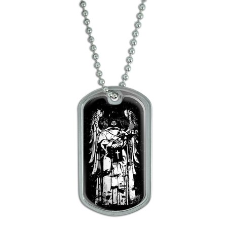 Fallen Angel - Unholy Skeleton Grim Reaper Dog Tag