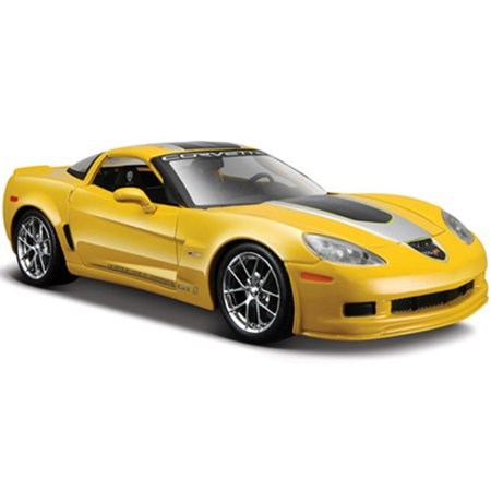 Chevy Corvette Z06 GT1, Yellow - Maisto 34203 - 1/24 Scale Diecast Model Toy Car (Brand New, but NOT IN BOX) - New Corvette Z06