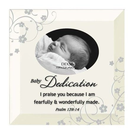 Baby Frame - Dexsa Simple Expressions ''Baby Dedication'' Beveled Glass Picture Frame