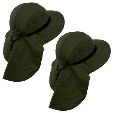 2 Boonie Hats With Neck Flap Sun Caps Head Giggles Buckets Adult Outdoor  Fishing - Walmart.com 9cb6ea8a519