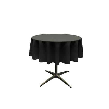 LA Linen TCpop58R-BlackP24 Polyester Poplin Tablecloth, Black - 58 in. Round