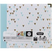 We R Memory Keepers Teresa Collins Albums Made Easy 3-Ring Album, 12 by 12-Inch, Triangle Multi-Colored