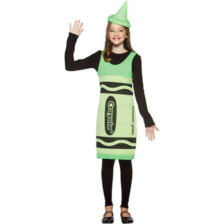 Crayola Screaming Green Tank Dress Tween Halloween Costume](Halloween Costume Green Dress)