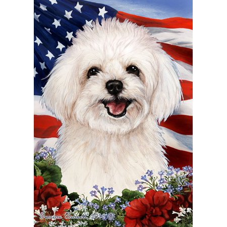 Maltipoo - Best of Breed  Patriotic I Large Flags