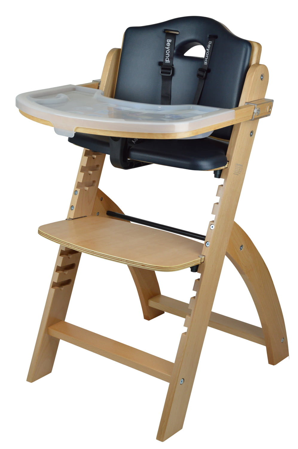 Abiie Beyond Wooden High Chair with Tray by Abiie