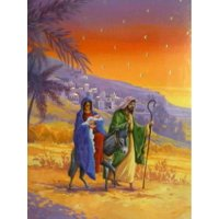 Trimmerry Mary Joseph & Baby Jesus Christian Christmas Cards