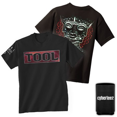 Tool Band Shaded Box Triple Face T-Shirt + Coolie (Branded Shades For Men)