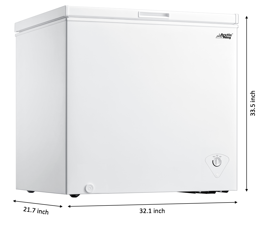 White WHS-258C1WS 7 Cubic Feet Chest Freezer Arctic King -