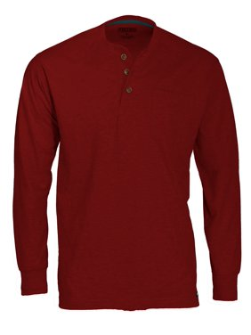 Smith's Workwear Long-Sleeve Henley with Gusset & Chest pocket