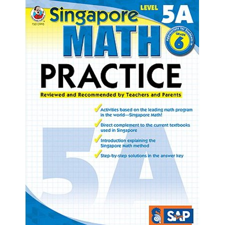 Math Practice, Grade 6 : Reviewed and Recommended by Teachers and Parents