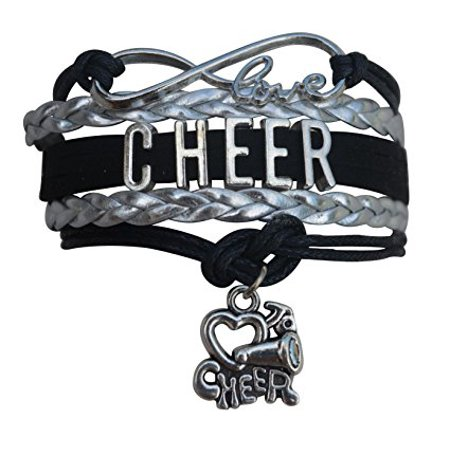 Girls Cheerleading Bracelet, Cheer Gifts- Cheer Jewelry- Cheer Bracelet- Adjustable Cheer Charm Bracelet- Gift For Cheerleaders, Cheer Teams & Cheerleading Coaches](Girls Charm Bracelets)