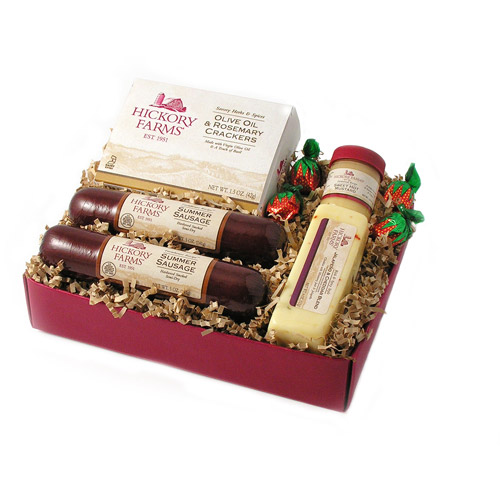 Hickory Farms Holiday Tradition Sausage & Cheese 5-Piece Gift Set