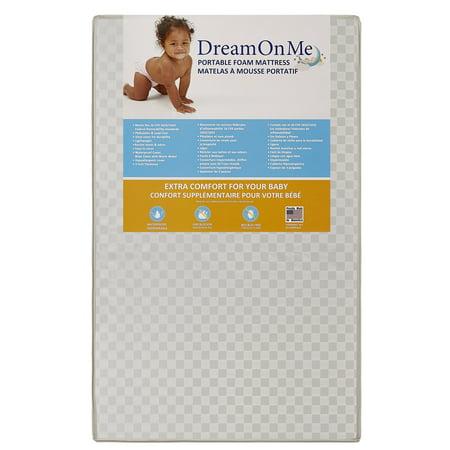 Dream On Me 3  Portable Crib Mattress
