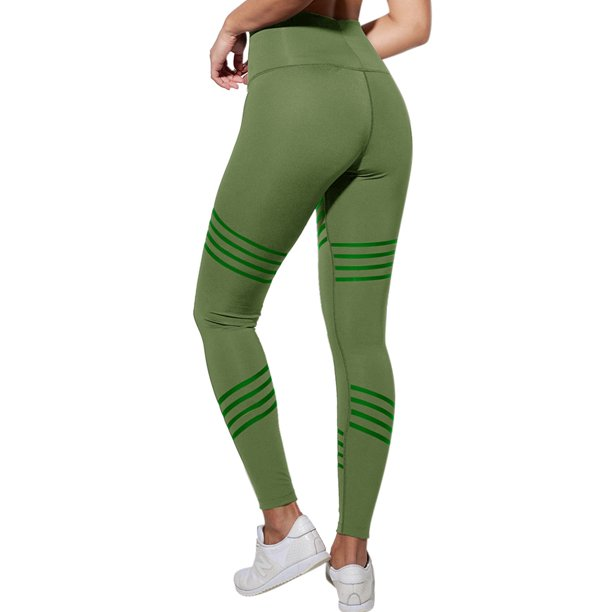 Women Basic Leggings Stretch Yoga Pants High Waist Tummy Control Workout Fitness Yoga Trouser