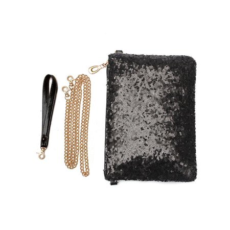 (Women Spangle Sequins Evening Shoulder Bag Wallet Purse Clutch Chain Handbag)