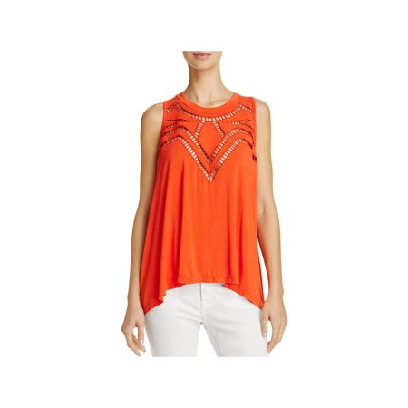 POL Womens Ladder Stitch Flyaway Tank