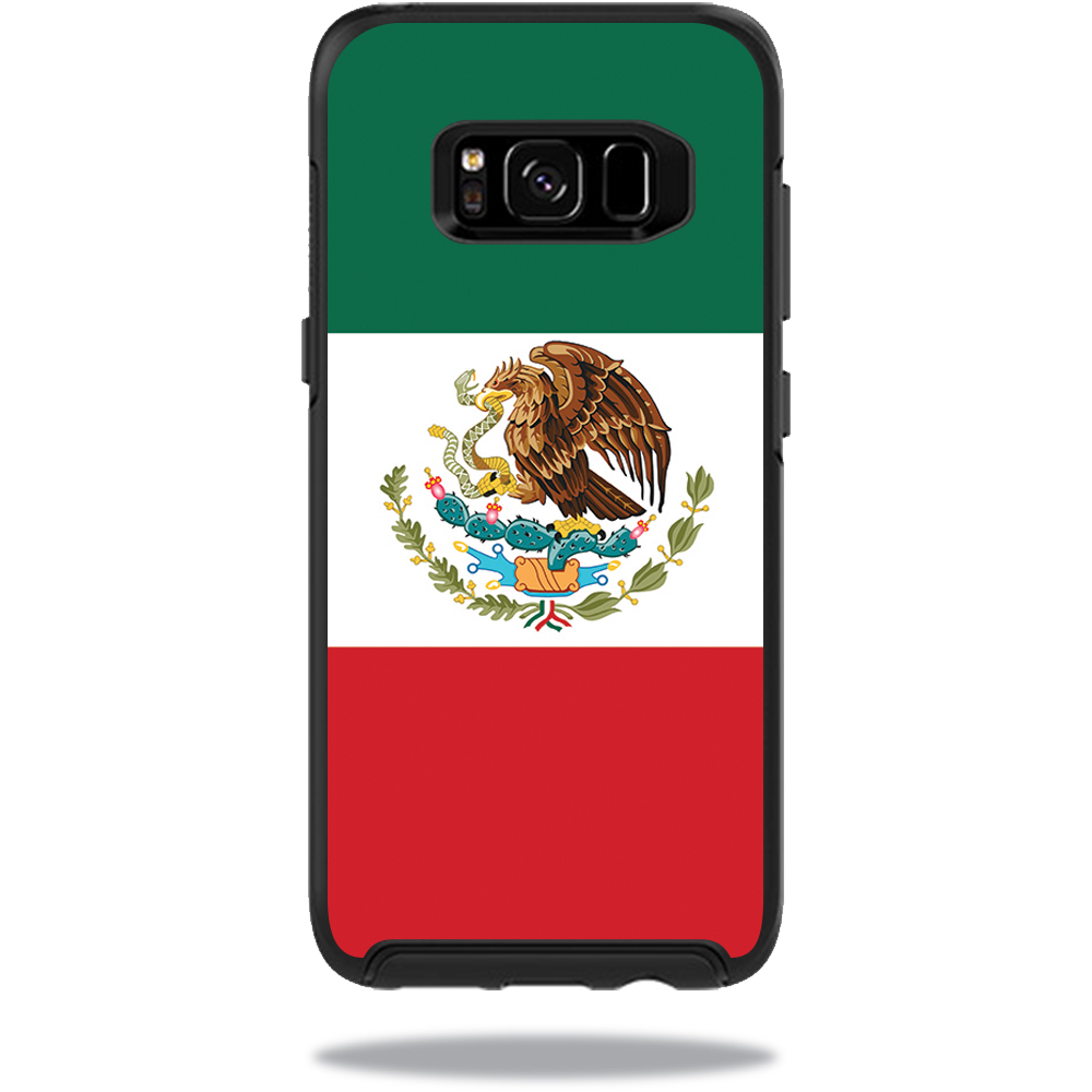 MightySkins Protective Vinyl Skin Decal for OtterBox SymmetrySamsung Galaxy S8 Case sticker wrap cover sticker skins Mexican Flag