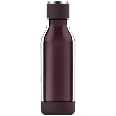 Burgundy Water (ASOBU GT50BURG 17-Ounce Inner Peace Glass Water Bottle (Burgundy) )