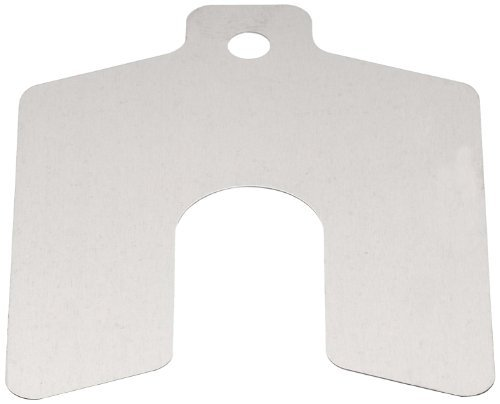 Precision Brand Decimal Slotted Shim Refill Packages - .015'' x 6'' x 6'' 300 ss slotted shim - 5/p