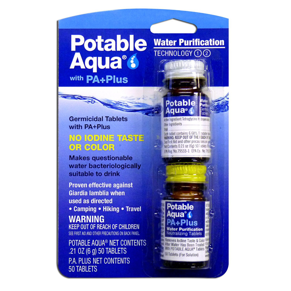 Potable Aqua Water Purification Tablets With Pa Plus - 1 Kit
