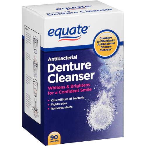 Equate Antibacterial Denture Cleanser Tablets, 90 count