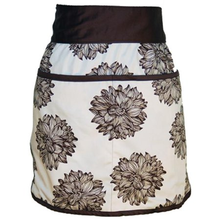Image of A Greener Kitchen AP007 Organic Cotton Half Apron - Evelyn in Chocolate Brown