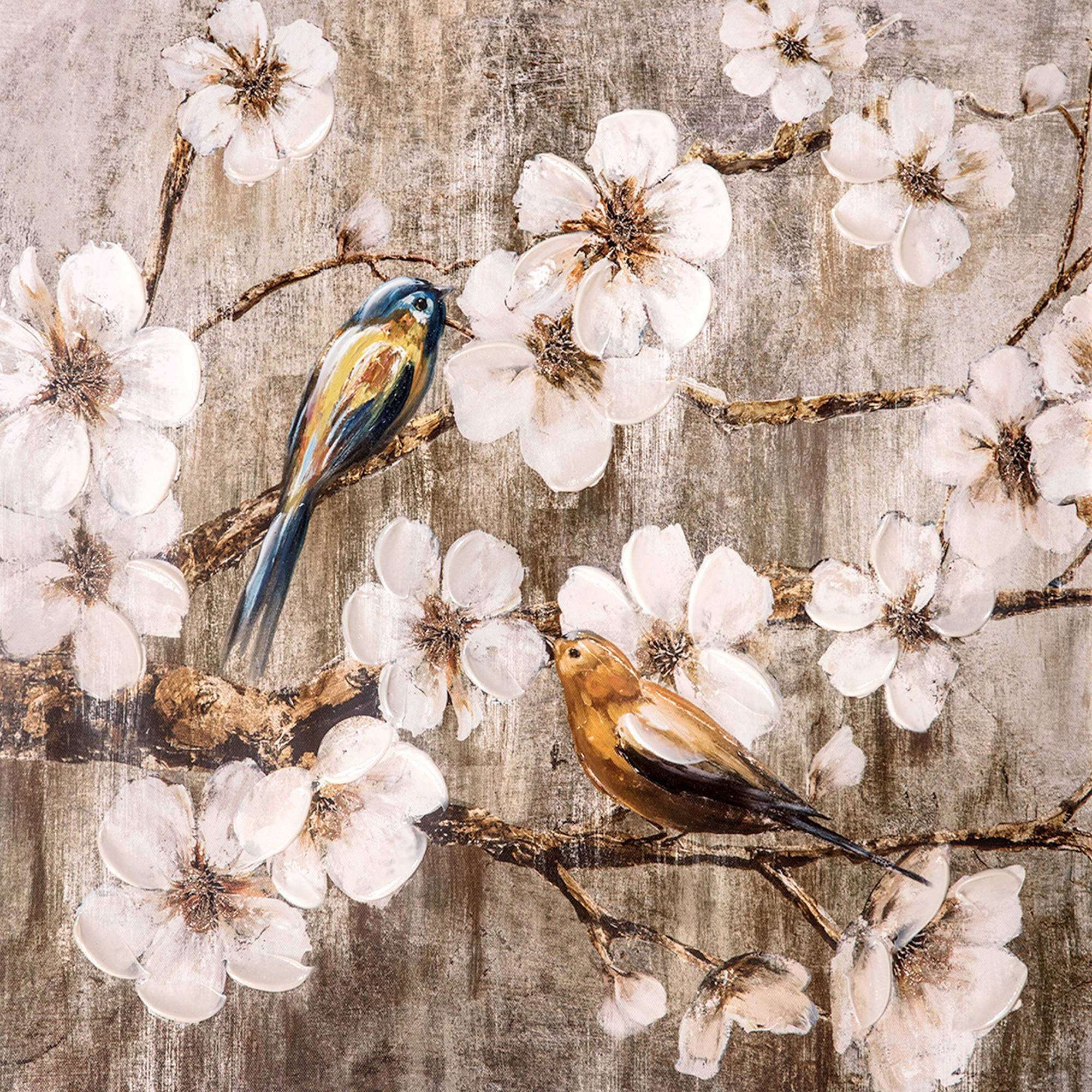 Painted Birds Canvas Painted Wall Artwork 20 x 20 in. by ZHEJIANG WADOU CREATIVE ART CO LTD