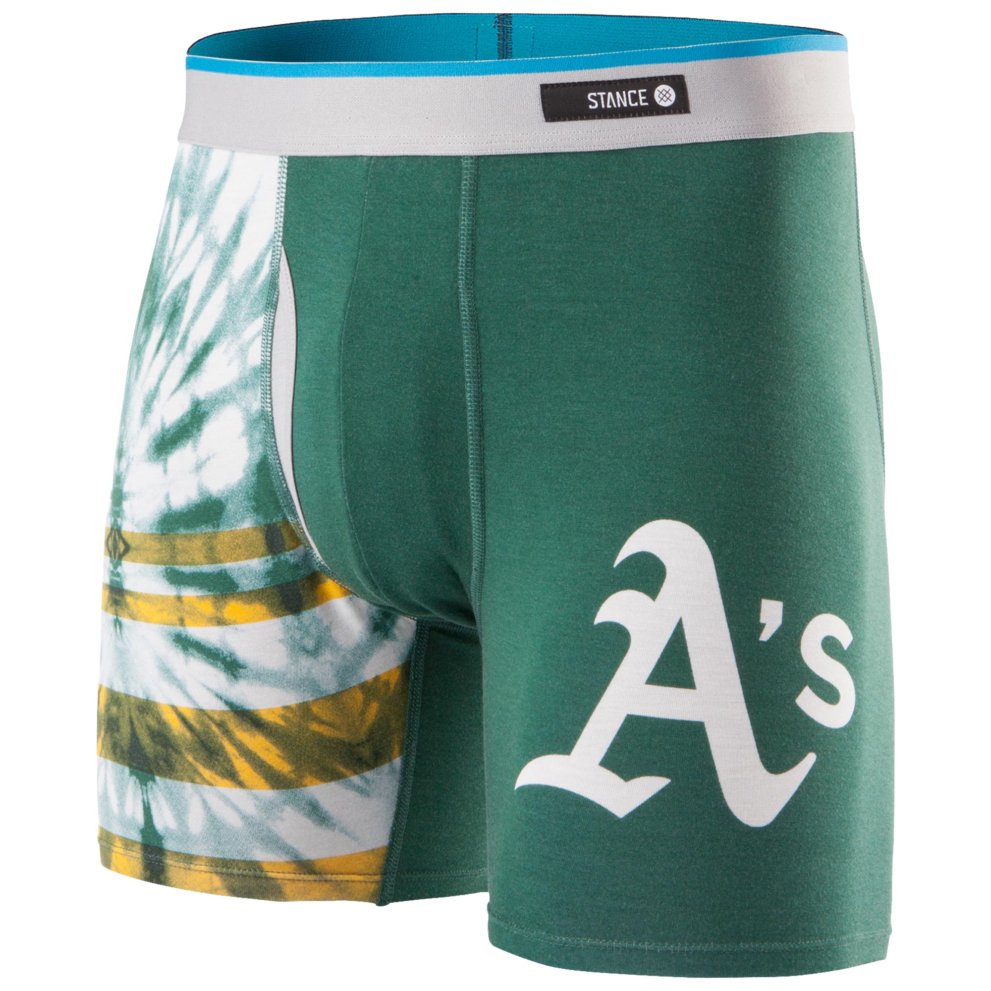 Oakland Athletics Stance Tie-Dye Underwear Green by Stance