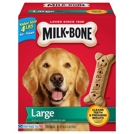 Milk-Bone Original Dog Biscuits - for Large-sized Dogs, 4-Pound