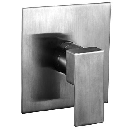 ALFI brand AB6701-BN Brushed Nickel Modern Square Pressure Balanced Shower (Shower Mixer Finish)