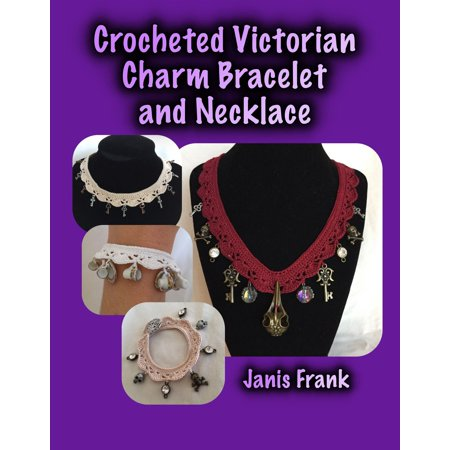 Crocheted Victorian Charm Bracelet and Necklace -