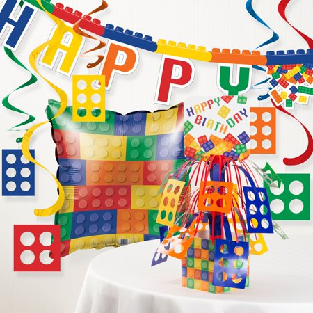 Block Birthday Party Decorations Kit
