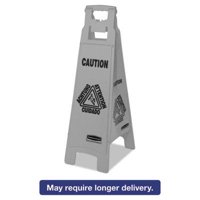 Rubbermaid Commercial Executive 4-Sided Multi-Lingual Caution Sign
