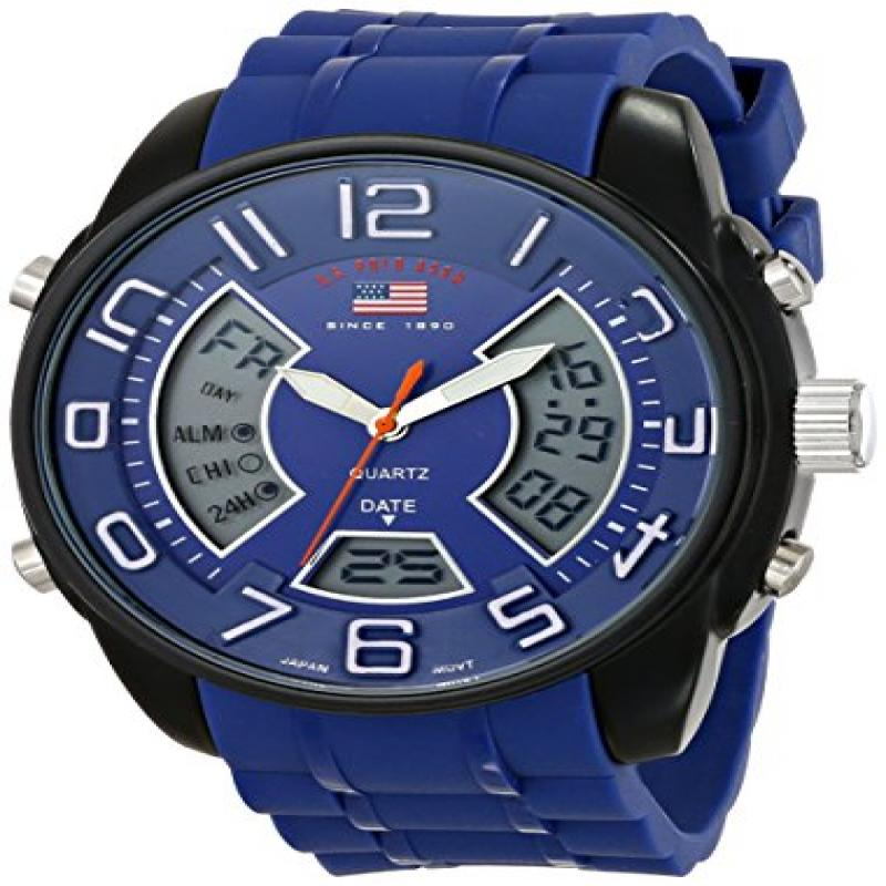 U.S. POLO ASSN Sport Men's US9486 Analog-Digital Display Analog Quartz Blue Watch