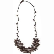 Faire Collection Cloud Forest Necklace, Soft Gray