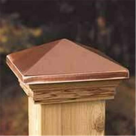 High Point Top Post Cap with Cedar Wood Base, 4 x 4