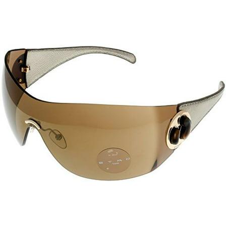 Etro Sunglasses Womens SE9016V 300V Wraparound Silver Leather Size: Lens/ Bridge/ Temple: