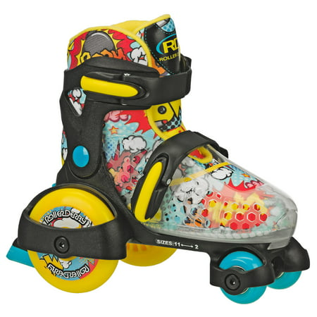 Fun Roll Boy's Jr Adjustable Roller Skate - Lighted Roller Skates
