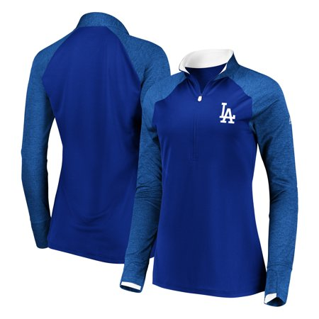 - Los Angeles Dodgers Majestic Women's Extremely Clear Cool Base Raglan 1/2-Zip Jacket - Navy