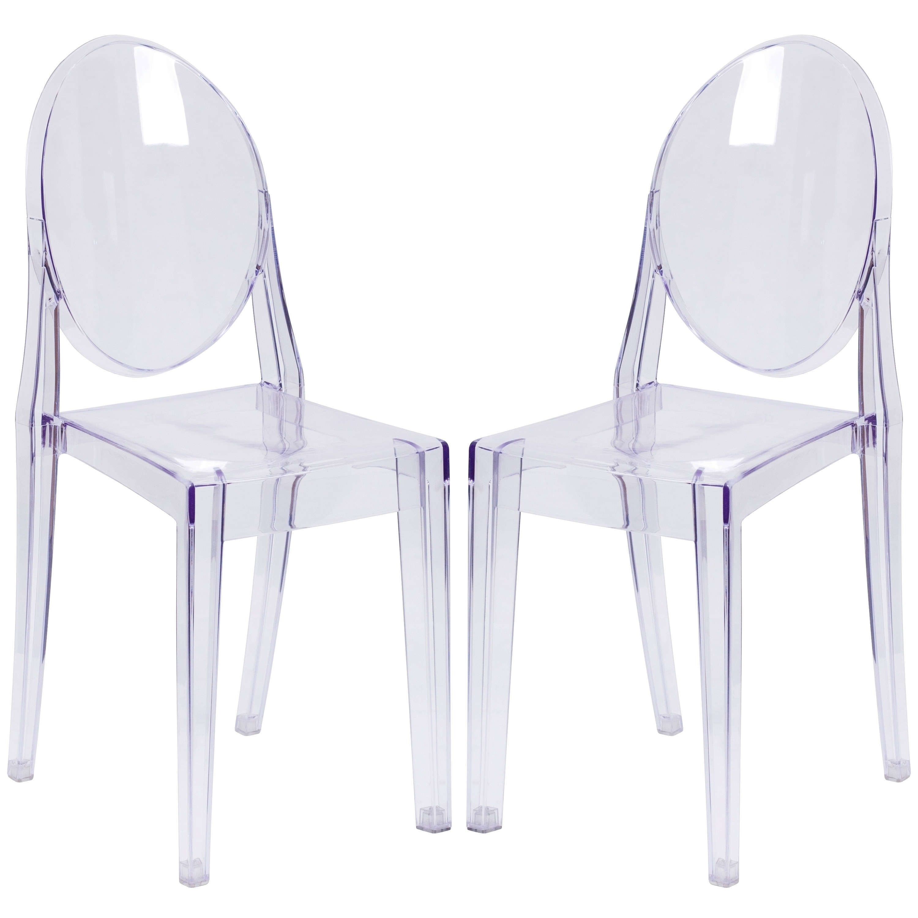 A Line Furniture Ghost Design Round Back Transparent Crystal Chair