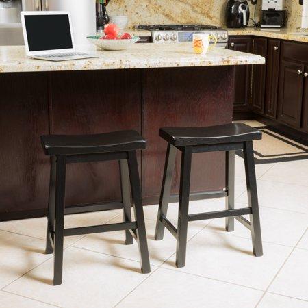 Astonishing Noble House Paulson 24In Espresso Wood Saddle Stool Set Of 2 Pdpeps Interior Chair Design Pdpepsorg