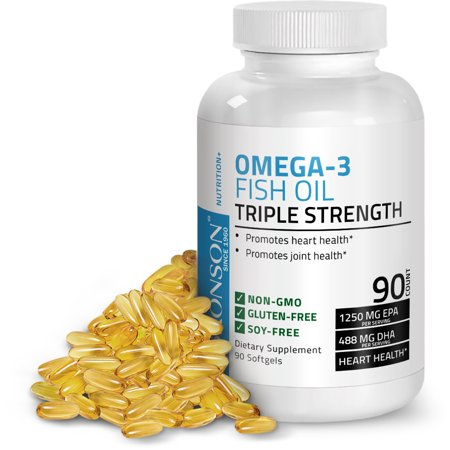 Omega 3 Fish Oil Triple Strength 2720mg - High EPA & DHA - Heavy Metal Tested Non GMO Gluten Free Soy Free