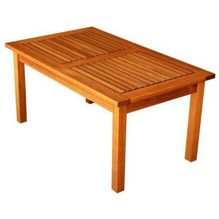 LuuNguyen Outdoor Hardwood Coffee Table Natural Wood Finish ()
