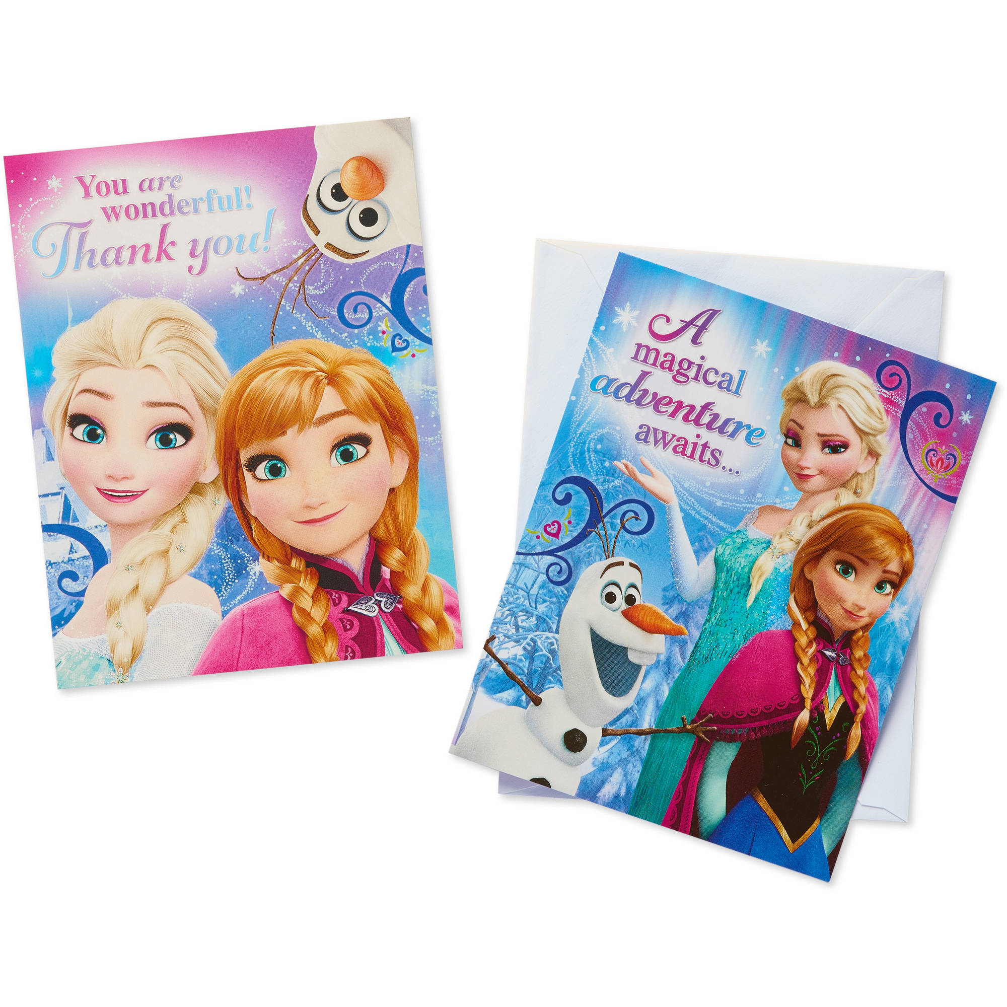 Frozen Party Invite and Thank You Combo Pack, 8ct