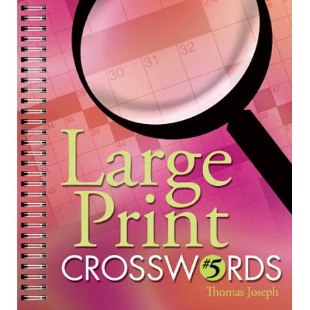 Large Print Crosswords #5 (Spanish Halloween Crossword Puzzle)