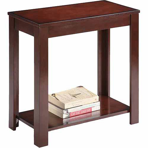 """Traditional Dark Cherry Side/End Table, 24"""""""