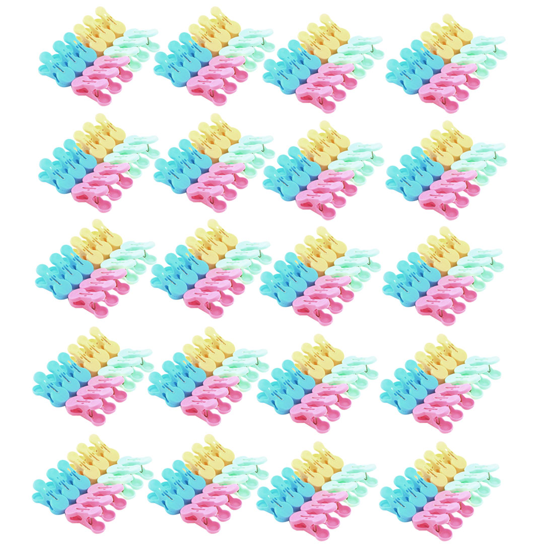 Unique Bargains Household Plastic Socks Towel Bag Clothing Clothes Clips Clamp Clothespin 240pcs