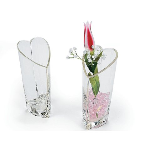 Heart Shaped Decorative Glass Vase, Glass By OTC - Heart Shaped Glasses