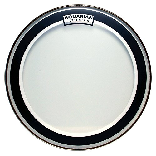 Aquarian Drumheads SKII22 Super-Kick II Double Ply 22-inch Bass Drum Head by